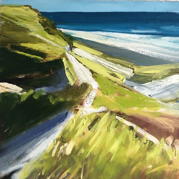 Hocking Truro Coast 16x16 in oil on panel