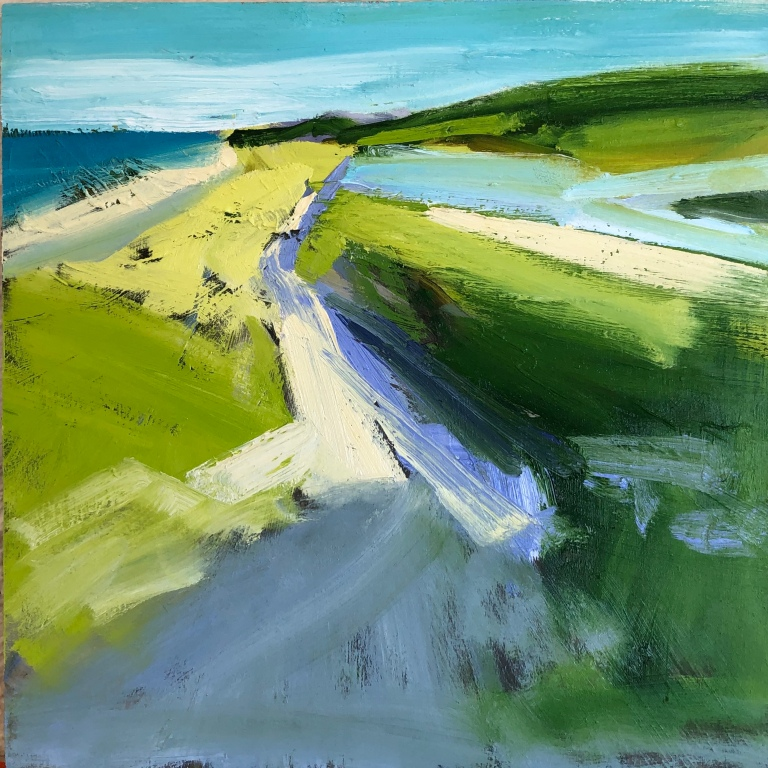 Hocking Wellfleet Coast 16x16in oil on panel